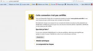 Certificat invalide