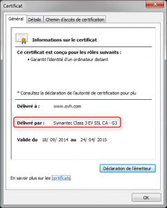 Certificat validé par Symantec