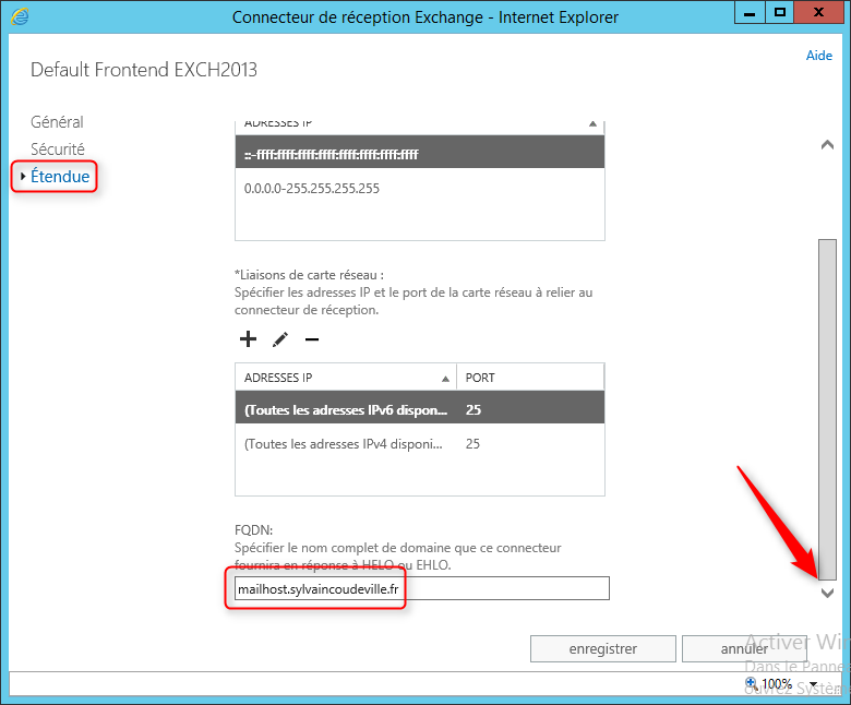 Exchange 2013 Configuration FQDN ReceiveConnector