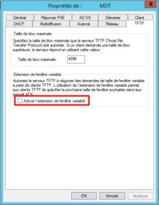 WDS TFTP Properties